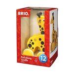 Brio Pull Along Giraffe Koka velkamā rotaļlieta 30200