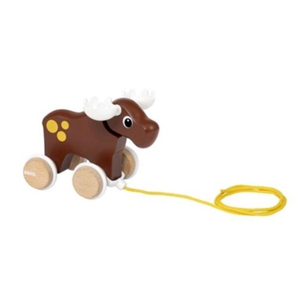 Brio Pull Along Moose Koka velkamā rotaļlieta 30341