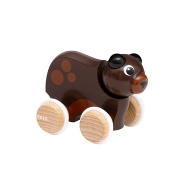 Brio Push Along Bear Stumjama koka rotaļlieta 30338