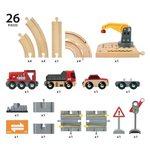 Brio Rail and Road Crane Set Koka dzelzceļš 33208