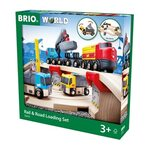 Brio Rail and Road Loading Set Koka dzelzceļš 33210