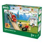 Brio Railway Starter Set 26 pcs. Koka dzelzceļš 33773