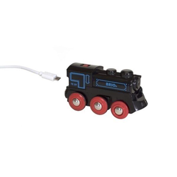 Brio Rechargeable Engine Uzlādējams vilciens ar micro USB kabeli 33599