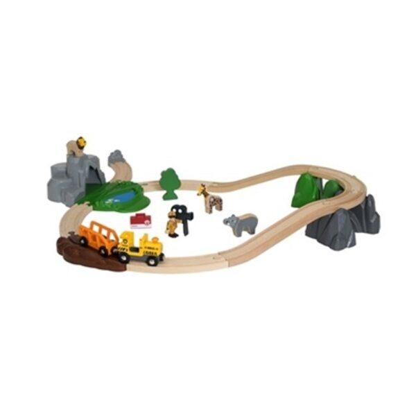 Brio Safari Adventure Set Koka dzelzceļš 33960