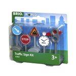 Brio Traffic Sign Kit Ceļa zīmes 33864