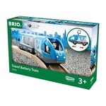 Brio Travel Battery Train Pasažieru vilciens 33506