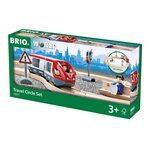 Brio Travel Circle Set Koka dzelzceļš 33511