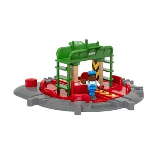 Brio Turntable and Figure Koka dzelzceļa posms 33476