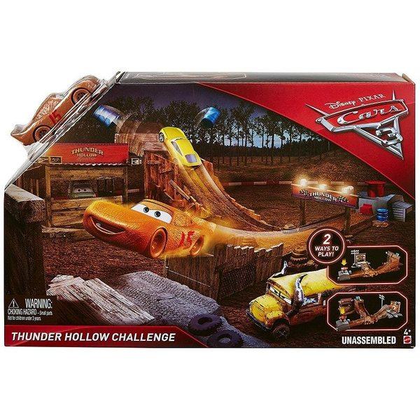 Cars 3 - Vāģi 3 Story Playset Asst - Thunder Hollow challenge, DVT46