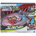 Hasbro BeyBlade Burst Turbo Slingshock Rail Rush Battle Set, E3629