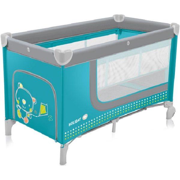 Baby Design Holiday 05 Tourquoise Ceļojumu gultiņa