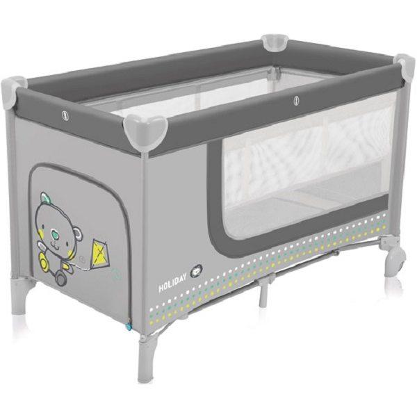Baby Design Holiday 07 Gray Ceļojumu gultiņa
