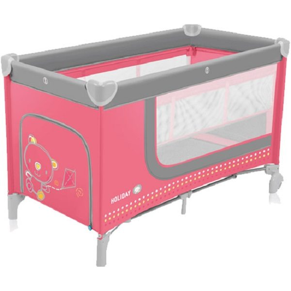 Baby Design Holiday 08 Rasberry Ceļojumu gultiņa