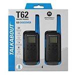 Motorola Rācija T62 Twin Pack & Chgr Blue 2 gab.