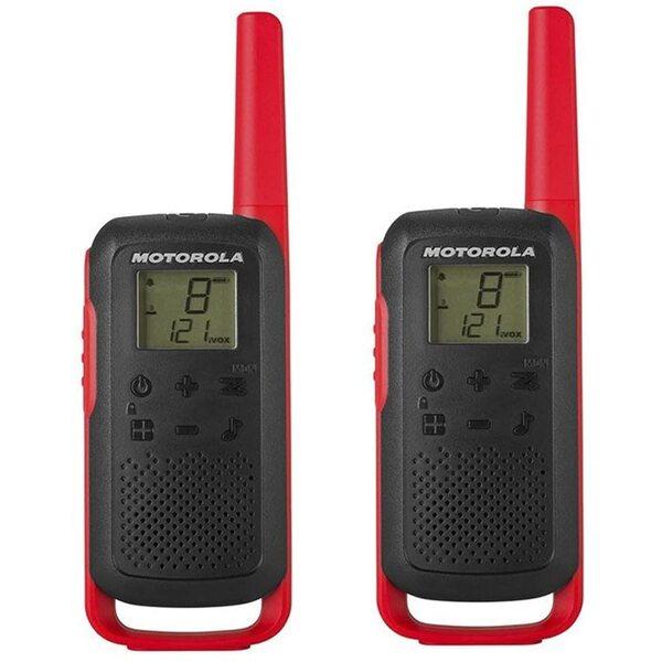 Motorola Rācija T62 Twin Pack & Chgr Red 2 gab.