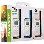 Motorola Rācija Talkabout T42 Triple Pack 3 gab.