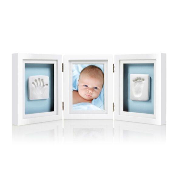Pearhead Babyprints Deluxe Desk Frame Komplekts mazuļa pēdiņu/rociņu nospieduma izveidošanai Blue P63006