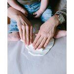 Pearhead Babyprints Deluxe Wall Frame Komplekts mazuļa pēdiņu/rociņu nospieduma izveidošanai Gray P63001
