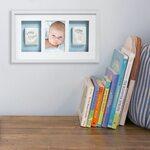 Pearhead Babyprints Deluxe Wall Frame Komplekts mazuļa pēdiņu/rociņu nospieduma izveidošanai White P63000
