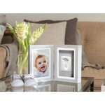 Pearhead Babyprints Desk Frame Komplekts mazuļa pēdiņu/rociņu nospieduma izveidošanai Gray P63005