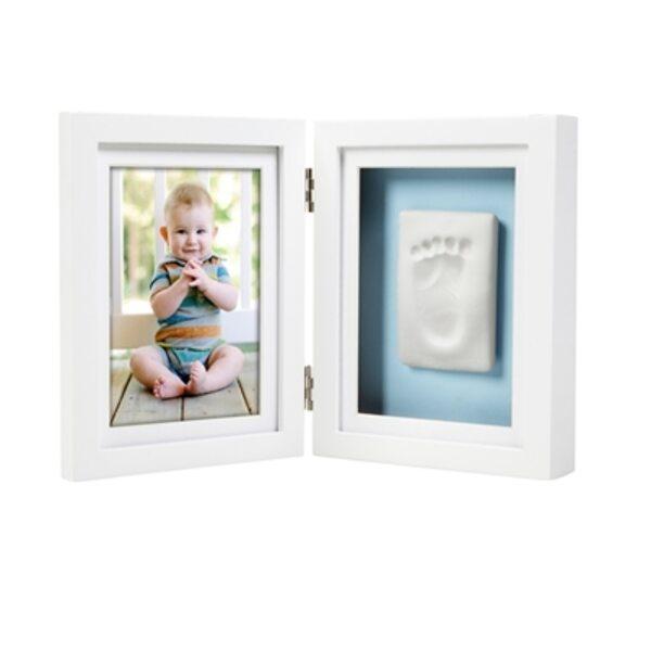 Pearhead Babyprints Desk Frame Komplekts mazuļa pēdiņu/rociņu nospieduma izveidošanai White P63004