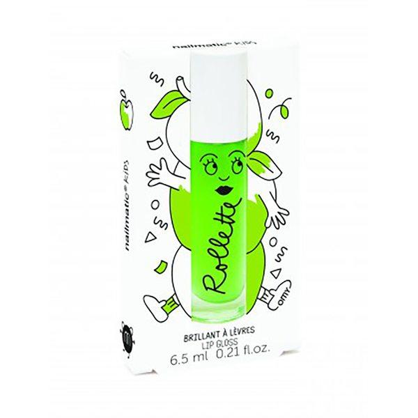 Nailmatic Kids Dabīgs un mitrinošs bērnu lūpu spīdums ar vitamīniem un augļu garšu Apple, 6,5 ml, Rollpomme