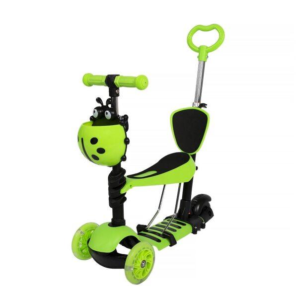 Scooter 5 in 1 Skrejritenis ar rokturi, zaļš Special
