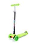 Scooter LED Bērnu trīsriteņu skrejritenis skūteris Green