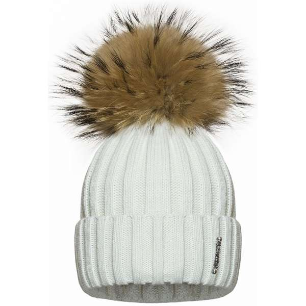 Barbaras Cepure Balta ar dabīgo bumbuli (jenots)