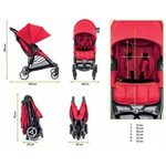 Baby Jogger City Mini Zip Red Bērnu sporta rati