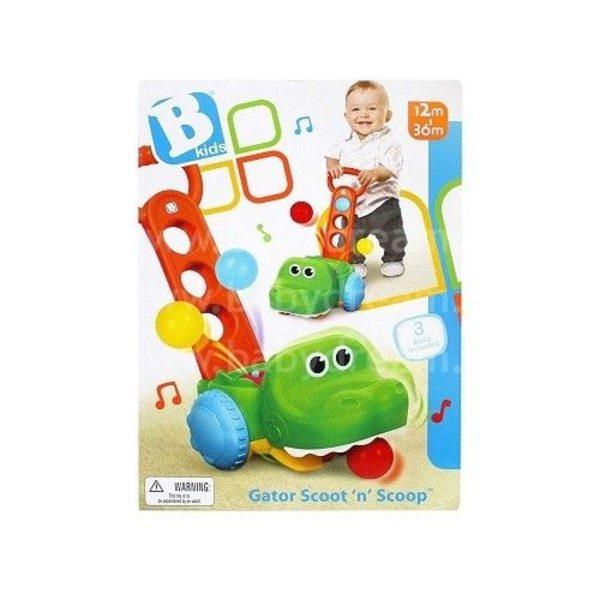 BKids Stumjama rotaļlieta Krokodils ar bumbiņām, 004703