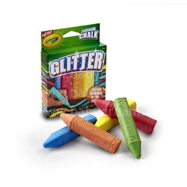 CRAYOLA Krītiņi ar spīdumiem Glitter 5, 03-5804