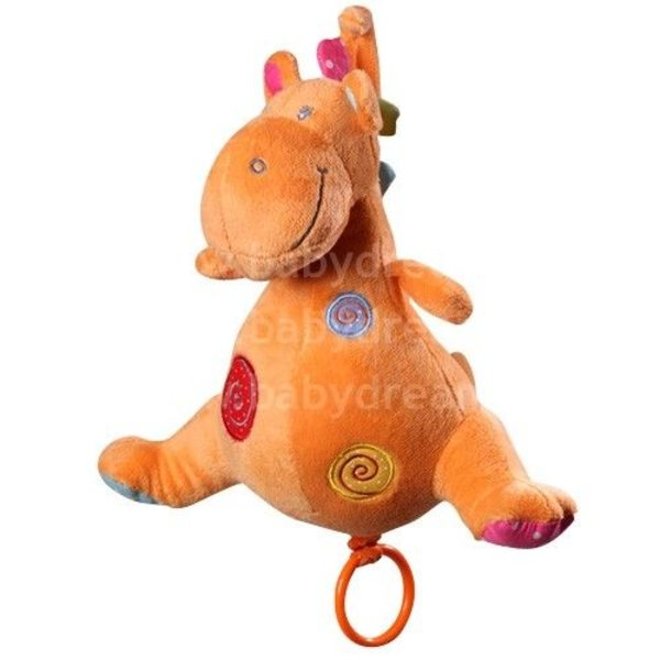 BabyOno Velūra rotaļlieta ar mūziku Dino, 1120