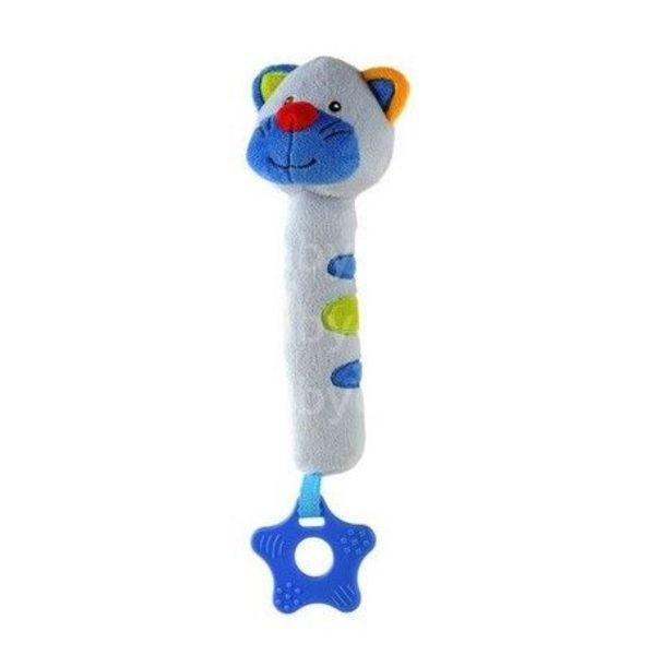 """BabyOno Rotaļlieta ar pīkstuli un grabuli """"Kaķītis"""", 1303"""