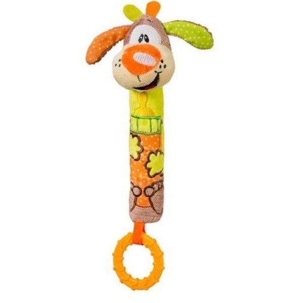 """BabyOno Rotaļlieta ar pīkstuli un grabuli """"Sunītis"""", 1354"""
