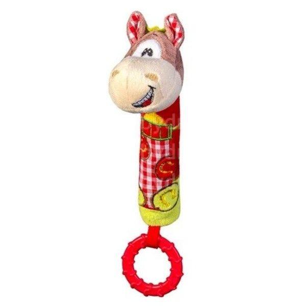 "BabyOno Rotaļlieta ar pīkstuli un grabuli ""Zirgs"", 1355"