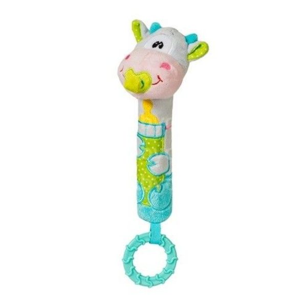 """BabyOno Rotaļlieta ar pīkstuli un grabuli """"Gotiņa"""", 1357"""