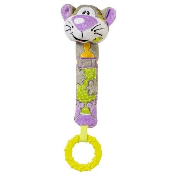 """BabyOno Rotaļlieta ar pīkstuli un grabuli """"Kaķītis"""" 1360"""