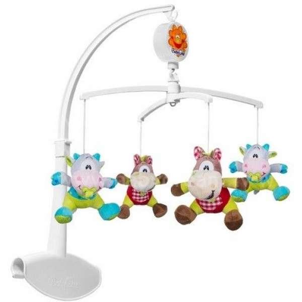 """BabyOno Muzikālais karuselis gultiņai """"Gotiņas un zirdziņi"""", 1362"""