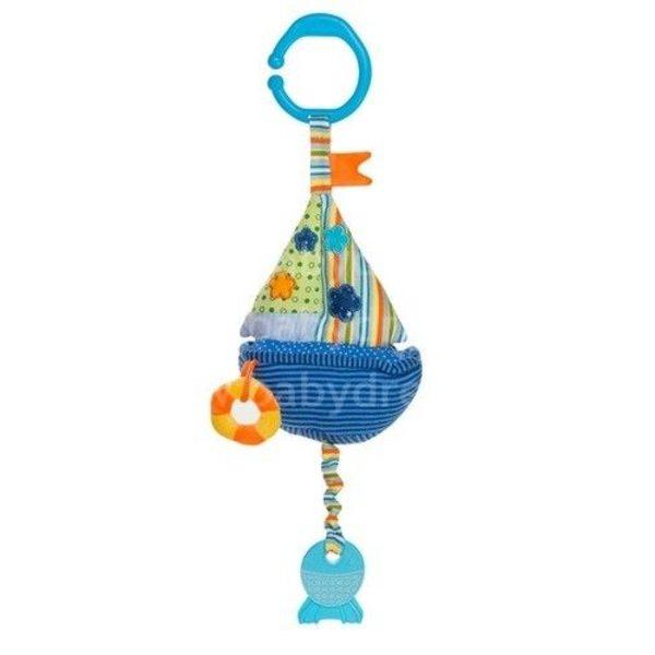 """BabyOno Rotaļlieta ratiņiem ar skaņu """"Kuģis"""", 1391"""