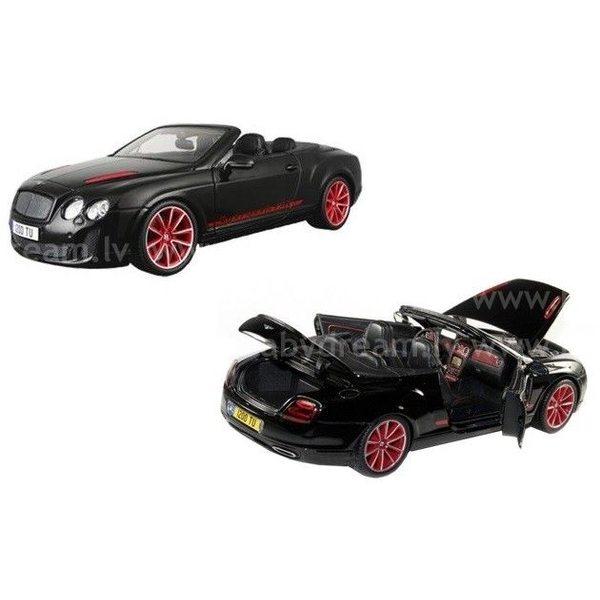 Bburago Automašīna 1:18 Bentley Continental Supersport Convertible Black, 18-11035 Black