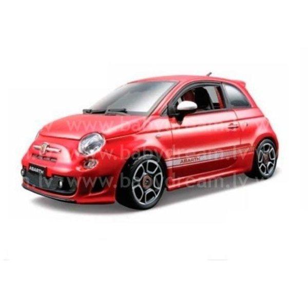 Bburago Automašīna 1:24 Fiat Abarth 500, 18-21043 Red