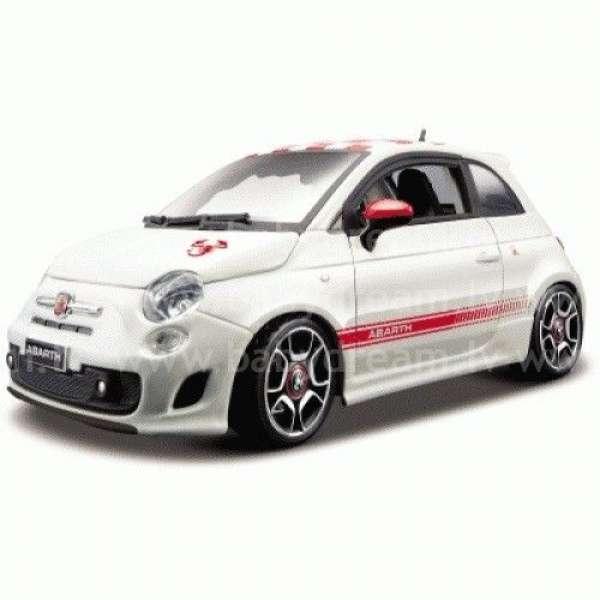 Bburago Automašīna 1:24 Fiat Abarth 500, 18-21043 White