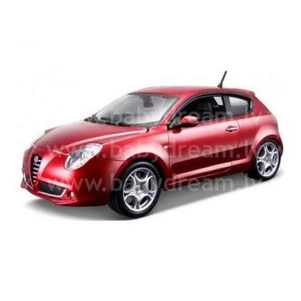 Bburago Automašīna 1:24 Alfa  Romeo Mito Met.red, 18-21045 red