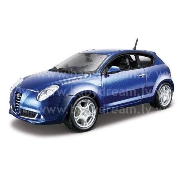 Bburago Automašīna 1:24 Alfa  Romeo Mito Met.blue, 18-21045 blue