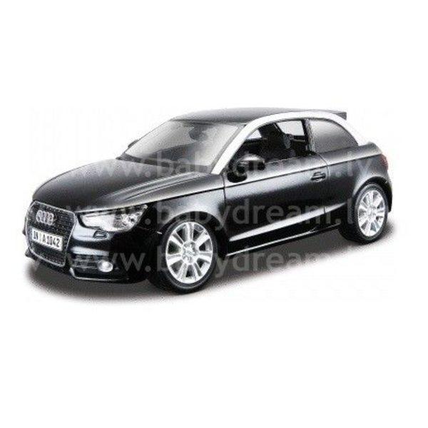Bburago Automašīna 1:24 Audi A1 Black, 18-21058 black