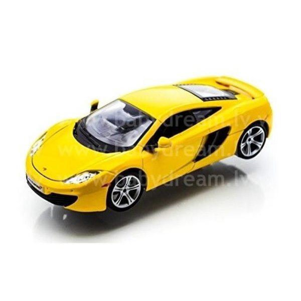 Bburago Automašīna 1:24 McLaren MP4-12C, 18-21074 Yellow