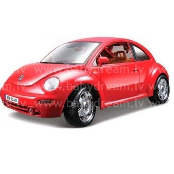 Bburago Automašīna 1:24 VW New Beetle, 18-22029 Red