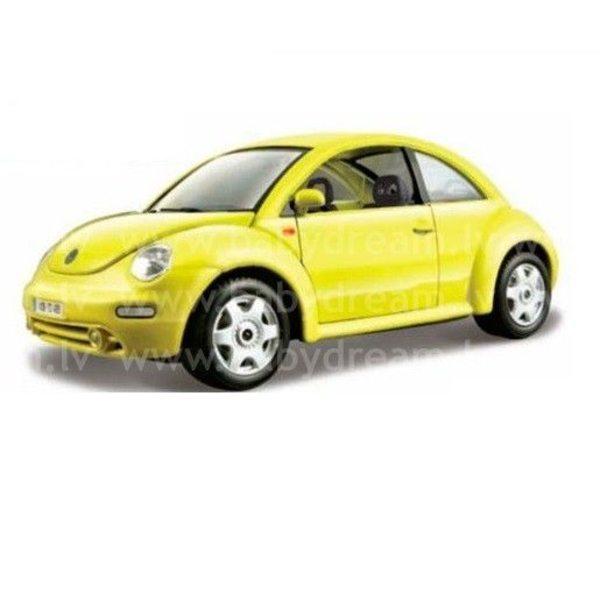 Bburago Automašīna 1:24 VW New Beetle, 18-22029 Yellow