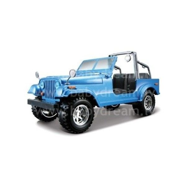 Bburago Automašīna 1:24 Jeep Wrangler, 18-22033 Blue